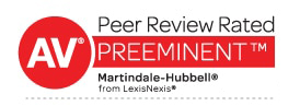 AV Preeminent rating by Martindale-Hubbelll